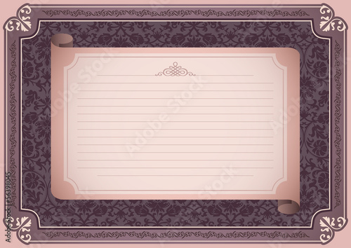 Vintage background with floral decoration.