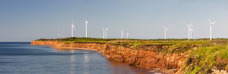 Wind turbines on atlantic coast