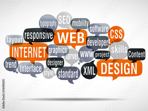 word cloud : web design