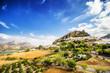 Leinwandbild Motiv Zahara de la Sierra, town located in Cadiz, Andalusia, Spain.