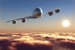 canvas print picture - Passenger plane