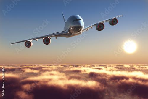 canvas print picture Passenger plane