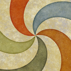 Grunge Textured Swirl