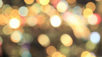 Colorful Out of Focus Blurred Bokeh Background Time Lapse