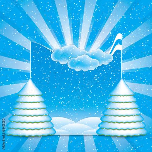 Winter scene frame