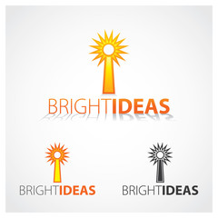 Bright Ideas Bright ideas logo design template.