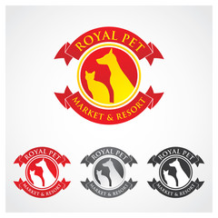 Royal Pet Symbol Royal pet symbol emblem badge template.