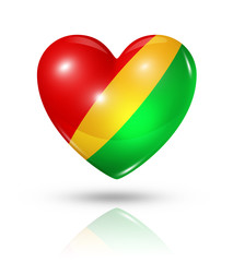 Love Republic of the Congo, heart flag icon