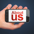 Marketing concept: About Us on smartphone