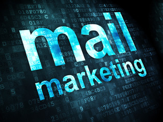 Advertising concept: Mail Marketing on digital background