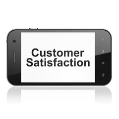 Marketing concept: Customer Satisfaction on smartphone