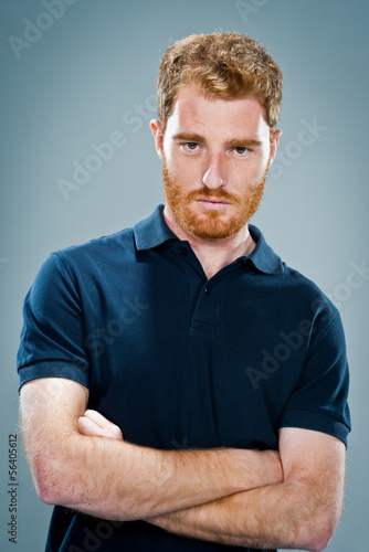 Young Man with Serious Expression