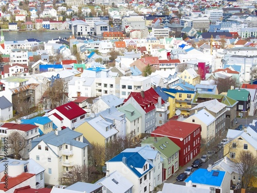 Reykjavik viewed from the sky