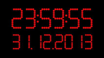 Uhrzeit mit Datum 2013 - 2014