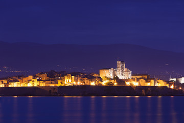 Antibes at night, south of France