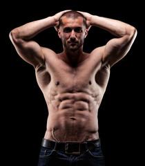 Sportler mit starken Latissimus