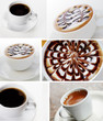 Coffee light collage