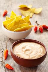 Dip and nachos