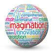 """Globe - Nuage de Tags """"IMAGINATION"""" (idées solutions créativité)"""