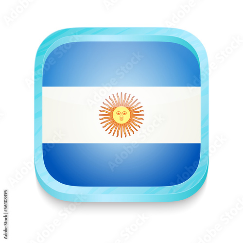 Smart phone button with Argentina flag