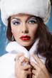 Young beautiful winter woman
