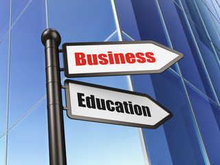 Education concept: Business Education on Building background