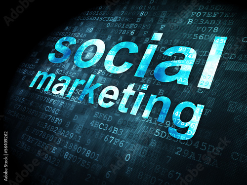 Advertising concept: Social Marketing on digital background