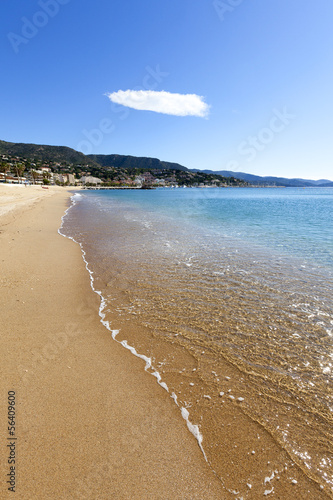 La Lavandou beach in the south of France