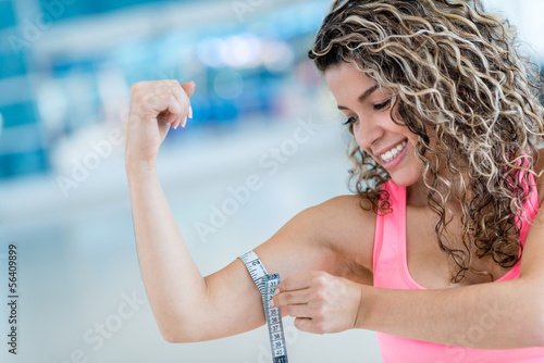 Strong woman at the gym