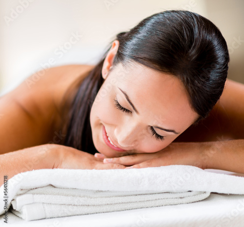 Beautiful woman at the spa