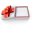 Jewelry box with a ribbon