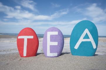 Tea, italian origin female name on stones