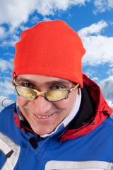 man skier