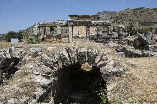 Ruins in Northern Necropolis of Hierapoli, Denizli, Turkey