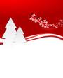 Weihnachtskarte Rentiere Bäume