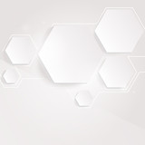 Light background with hexagons