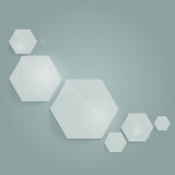Abstract composition with hexagons