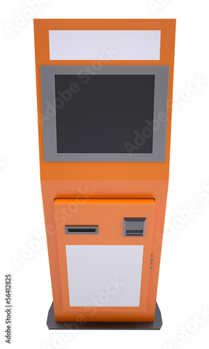 Information terminal with touch screen
