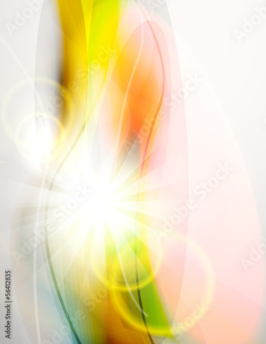 Abstract light and colorful waves