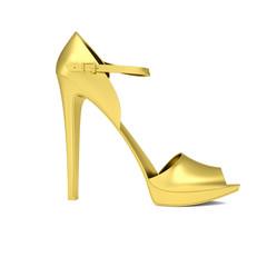 Gold women's shoe