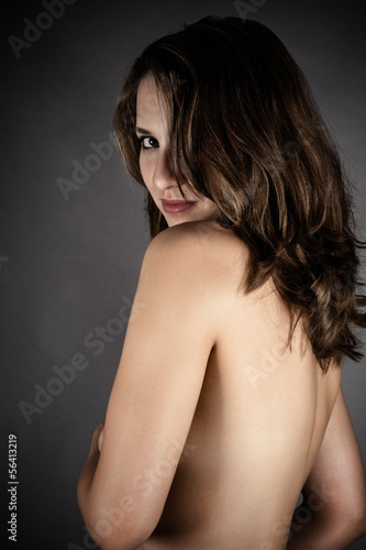 portrait of a beautiful naked woman