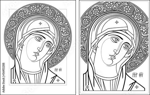 Fototapeten,jungfrau,icon,contour,profile