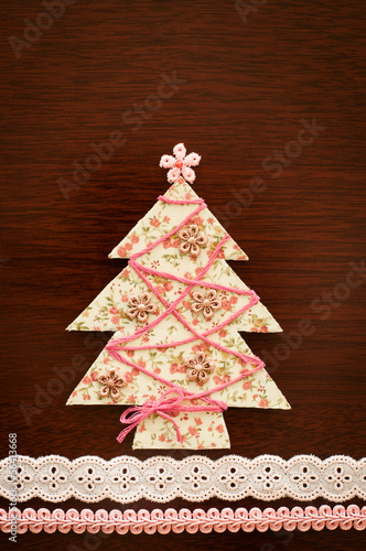 Handmade fabric Christmas tree.