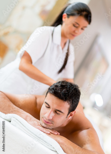 Man at the spa