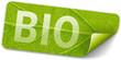 grünes label bio mit Blattstruktur