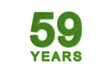 59 Years eco-friendly anniversary celebration