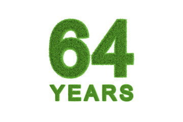 64 Years eco-friendly anniversary celebration