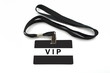 VIP badge isolated on white background