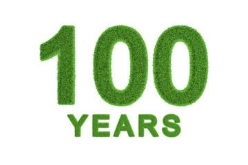 100 Years green grass centenary anniversary