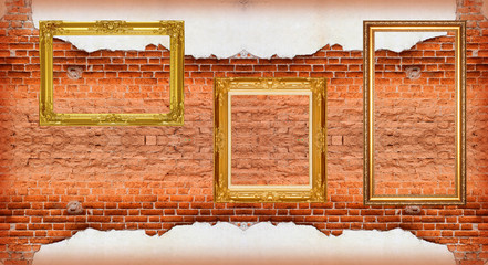 Picture Frame  red brick wall